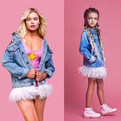 #LIKEMOTHERLIKEDAUGHTER  Детская коллекция DARIA Y MARIA KIDS создана по мотивам взрослой женской коллекции курток, специально для того что бы мамы и дочки могли одеваться одинаково, ведь это сейчас так модно!  Цены на детскую коллекцию 150 - 250€. Модели: Svala Lind (Португалия), Милана Мостовая (Россия)  Бренд DARIA Y MARIA является трендсеттером в изготовлении данных жакетов и производит их с 2013 года. Официальный аккаунт @daria_y_maria !