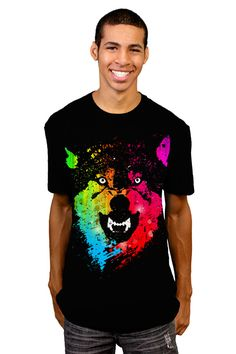 #Tshirt Tuesday: Neon T-shirts #neon #wolf #design