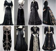 "warpaintpeggy: "" some of my favorite vintage dresses ↳ black """
