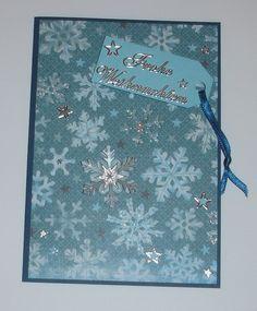 Weihnachtskarte -  Schneeflöckchen