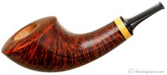 Gregor Lobnik Smooth Horn with Boxwood Pipes at Smoking Pipes .com
