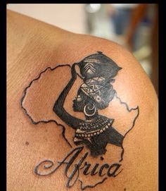 2c77130aff974 africa tattoo - Google Search Great Tattoos, Body Art Tattoos, Dope Tattoos,  Unique