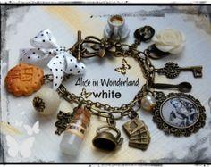 Alice in Wonderland - Handmade Charm Bracelet