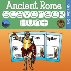Solve basic trivia questions on the culture of Ancient Rome with this fun scavenger hunt review game.  Cover the emperors, general day to day life, wars and battles, geography, and more.  All questions can be seen in the preview so you know ahead of time if this fits your students and your curriculum.