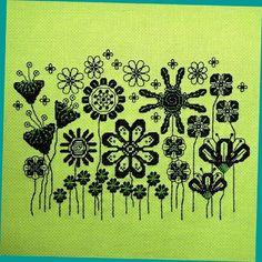 The Retro Garden Cross Stitch Pattern by StitchNotions on Etsy, $3.00