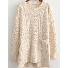 Chunky Sweater Cream Chunky Sweater Sweaters Crew & Scoop Necks