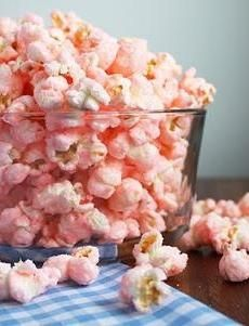 I absolutely want Pink Popcorn. Cooking Classy: Old Fashioned Pink Popcorn Yummy Treats, Sweet Treats, Yummy Food, Pink Popcorn, Colored Popcorn, Candy Popcorn, Sweet Popcorn, Sugar Popcorn, Popcorn Kernels