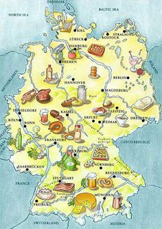 Very cool! A food map of Germany!