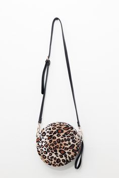 Textured Faux Fur Shoulder Bag Leopard