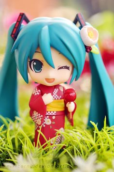 """No.333  初音ミク 浴衣Ver. 夏椿『キャラクター・ボーカル・シリーズ01 初音ミク』  Hatsune Miku: Yukata Ver. Natsutsubaki """"Character Vocal Series 01: Hatsune Miku""""  2013年7月"""