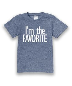 Heather Blue 'I'm the Favorite' Tee - Toddler & Boys