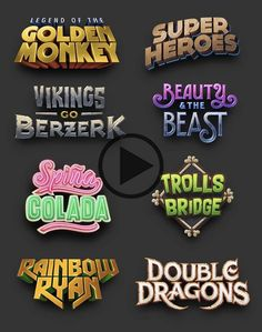 [For Hire] [Paid] Game logo designer looking for new projects Graphic Design Tips, Text Design, Rpg Wallpaper, Rpg Dice, Game Font, Video Game Logos, Game Logo Design, Text Style, Typography Logo
