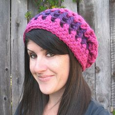 This is a very basic, mesh hat pattern! It's a bit different than my other slouchy hats. This one is actually a skully hat that gets it's slouchiness from being extra long. I think you'll love making it! It's super quick and I designed it to take only one skein of Lion Brand Hometown USA!