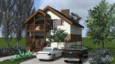 Котедж: архитектура, зd визуализация, 2 эт | 6м, жилье, минимализм, 200 - 300 м2, фасад - штукатурка, фасад - дерево, здание, строение, архитектура #architecture #3dvisualization #2fl_6m #housing #minimalism #200_300m2 #facade_plaster #facade_wood #highrisebuilding #structure #architecture arXip.com
