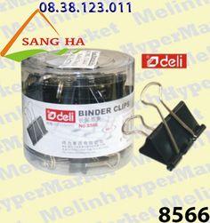 Sang Hà Văn phòng phẩm giá sỉ - Kẹp bướm đen 15mm Deli - 8566