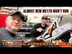 Stihl MS170 Chainsaw Won't Run Properly - Quickly Diagnose It With Apprentice Dave! - YouTube Small Engine, Chainsaw, Engineering, Teaching, Running, Youtube, Keep Running, Why I Run, Education