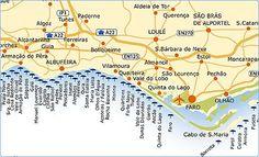 Algarve Beach Portugal Map