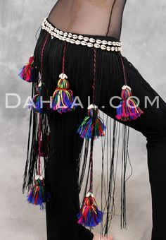 Tribal Tassel and Cowry Belt, for Belly Dance - Dahlal Internationale Store