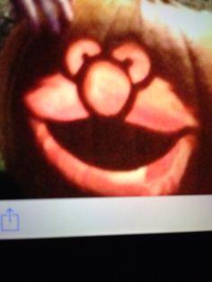 Elmo pumpkin