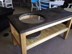 Delicieux Concrete Top Table For Large Big Green Egg Door AmalgamDesign