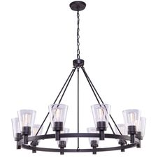 Buy the Artcraft Lighting Oil Rubbed Bronze Direct. Shop for the Artcraft Lighting Oil Rubbed Bronze Clarence 10 Light Wide Chandelier and save. Edison Chandelier, Wagon Wheel Chandelier, Bronze Chandelier, Chandelier Shades, Glass Chandelier, Modern Chandelier, Transitional Chandeliers, Light Bulb Bases, Oil Rubbed Bronze