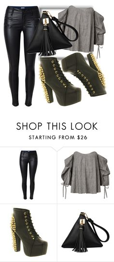 """""""Night out on the town"""" by lowkeybrenny on Polyvore featuring Jeffrey Campbell"""