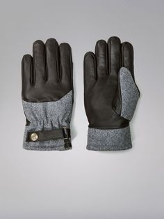 LIMITED EDITION WOOL AND LEATHER GLOVES