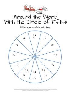 Free circle of fifths worksheet for Christmas. This will be a great review for my students!