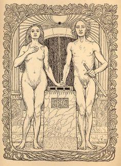 12. Fidus - At The Altar, 1906.jpg (550×759)