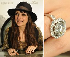 Nicole Richie wedding ring was so popular when this beautiful singer married Joel Madden in the middle of Nicole Richie, Celebrity Wedding Rings, Celebrity Weddings, Celebrity Style, Celebrity Jewelry, Diamond Rings, Diamond Engagement Rings, Diamond Cuts, Halo Engagement