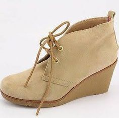 $140 Sperry Top-sider Harlow Sand Suede Ankle Boots Sz 9 Booties