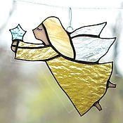 Для дома и интерьера ручной работы. Ярмарка Мастеров - ручная работа Ангел солнечный. Интерьерный витраж- подвес. Стекло,металл. Handmade.