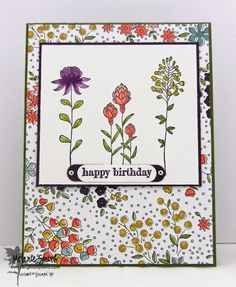 Stampin' UP! Flowering Fields Stamp Set Featuring Wildflower Field DSP ~ 2 FREE Sale A Bration Choices Melanie Smith www.fairystampland.com RETIRING IN COLORS