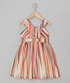 Look what I found on #zulily! Orange & Lime Stripe Dress - Toddler & Girls by Willoughby #zulilyfinds