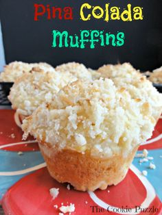 The Cookie Puzzle: Pina Colada Muffins
