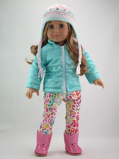 American Girl doll clothes Puffy winter coat by DolliciousClothes, $23.00