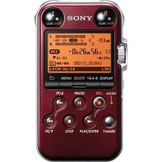 Sony PCM-M10 Portable Audio Recorder (Red), $229 @ B&H