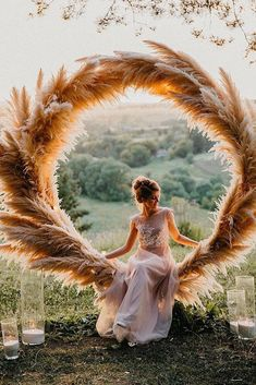 Trendy Bohemian Wedding Decorations ❤️ bohemian wedding decorations round shaped pampas grass bridal altar decorated with candles maria_zhandarova wedding inspiration Trendy Bohemian Wedding Decorations Bohemian Wedding Decorations, Wedding Wreaths, Boho Wedding, Wedding Ceremony, Dream Wedding, Wedding Bride, Backdrop Wedding, Wedding Scene, Wedding Wall