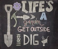 A chalkboard design for a Garden Centre.