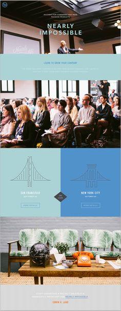 Latest User Interface Design Inspiration For Web & Mobile Design Web, Sign Design, Graphic Design, Conference Branding, Design Conference, Great Website Design, Beautiful Web Design, Layout, User Interface Design