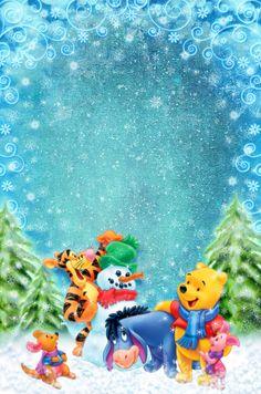 Winnie The Pooh Christmas.Pinterest