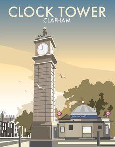 Clock Tower, Clapham Art Print