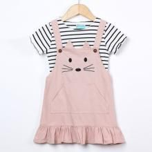 YDuoDuo 1-5T Baby Toddler Girl Spring Fall Dresses Outfit Long Sleeve Plaid Shirt Casual Cotton Dress with Waistbelt