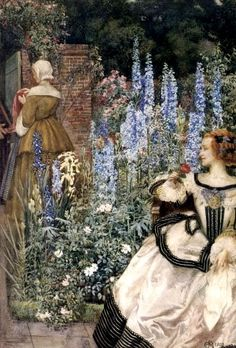They Toil Not Nor Do They Spin ~ Eleanor Fortescue Brickdale ~ (English: 1871-1945)