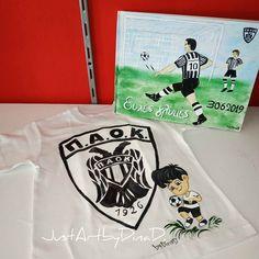 blouza paok -vivlio eyxon paok Handmade Shop, Mens Tops, T Shirt, Supreme T Shirt, Tee Shirt, Tee
