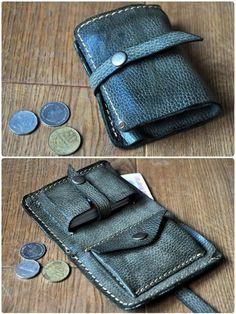 Оливковый кошелек  Одно отделение для купюр + отделения для монет и карточек (вместительность 20 карт)  #кожаные_аксессуары #мужской_кошелек #кожанный_кошелек #burtsevbags #leather_wallet #mans_wallet #leather_accessuares