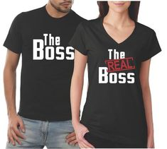 fbadc1251c Matching Couples Shirts The Boss The Real Boss His and Hers Shirt Set - Our  T