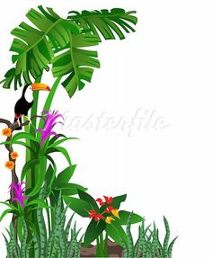 free printable clip art borders jungle frame vector 506296 by rh pinterest com free clipart jungle leaves free clipart jungle borders