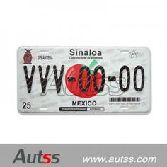 license plate of Mexico high security