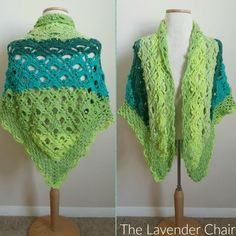 This Gemstone Lace Shawl is the perfect accessory to wear over any outfit to cover your shoulders. Its lacy and elegant. Get the FREE crochet pattern here.